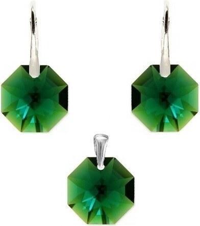 fddc9923b Naneth Set Octagon Swarovski Elements Emerald - Glami.sk