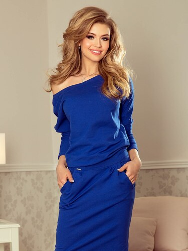 9e83a23c7543 ModneVeci Dámske športové šaty Chabrowa 189-2 kráľovsky modré - Glami.sk