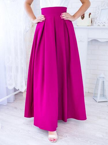 f0cfa0d8511e www.glashgirl.sk Tmavoružová dlhá elegantná sukňa - Glami.sk