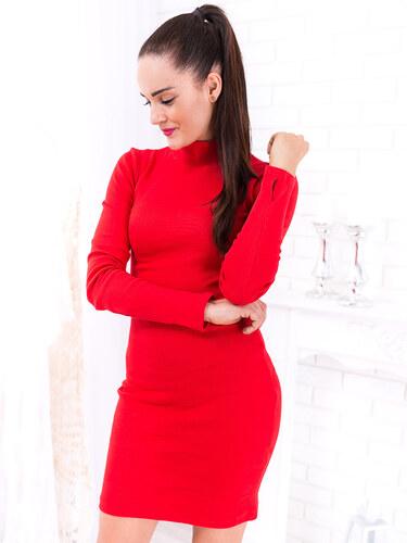 c17b0476e45c www.glashgirl.sk Červené šaty s dlhým rukávom Lauren - Glami.sk