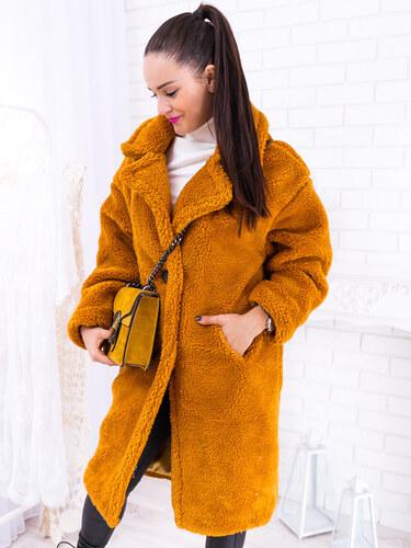 9c3421c615 www.glashgirl.sk Oranžový huňatý kabát Teddy - Glami.sk