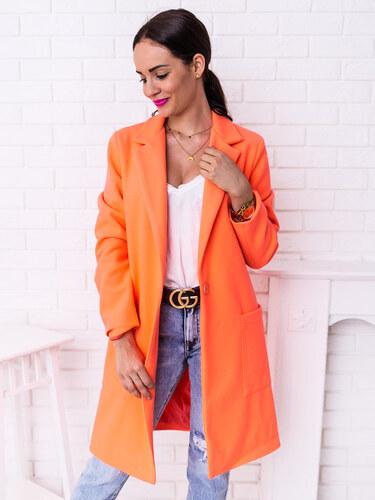 8a4b0ea233 www.glashgirl.sk Neónovo-oranžový jarný kabát s gombíkom - Glami.sk