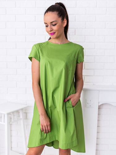 947139004b www.glashgirl.sk Zelené šaty s krátkym rukávom Linsey - Glami.sk