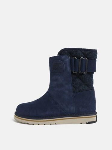 c603be72b56d Tmavomodré dámske semišové zimné topánky SOREL Newbie - Glami.sk