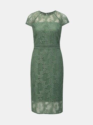 c97dc6bcb Zelené krajkové pouzdrové šaty Dorothy Perkins - Glami.cz