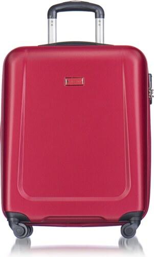 3c1645826e PUCCINI Cestovné kufre na kolieskach malé 39 litrov červený puc-03-9 ...
