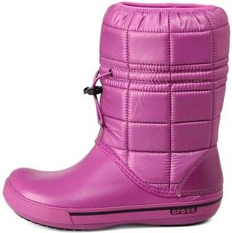 Fialové dámské zimní boty Crocs Crocband - Glami.cz 78ae03af5f