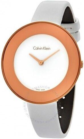 16414265b Calvin Klein dámské hodinky Chic White Dial - Glami.cz
