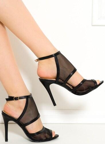 6027cdad1e1f -33% GLAM GLAMADISE shoes Dámske remienkové topánky čierne so sieťkou