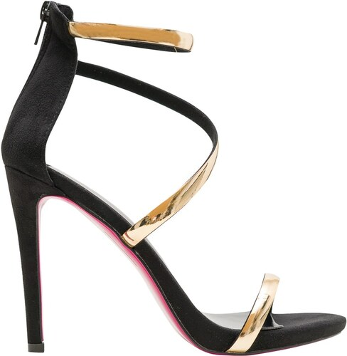 b73a259971a5 GLAM GLAMADISE shoes Dámske čierno-zlaté sandále - Glami.sk