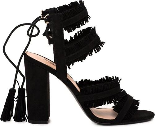 5d09a7f63464 Guess sandále třásňaté čierne - Glami.sk