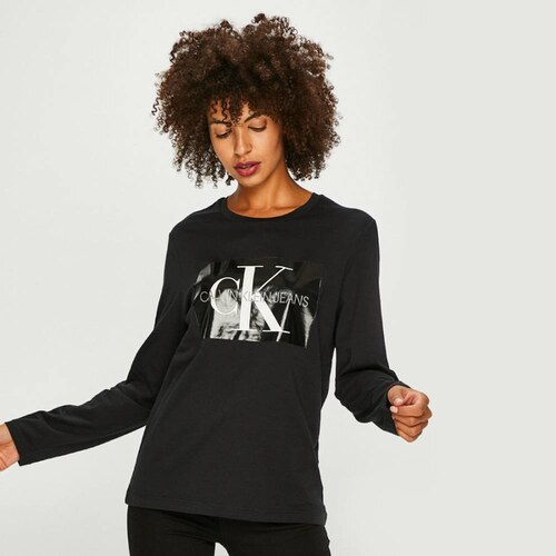cd46c9482 Calvin Klein dámske čierne tričko Box - Glami.sk