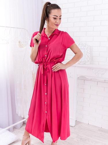 a330c0ac30 www.glashgirl.sk Ružové dlhé šaty s gombíkmi Joelle - Glami.sk