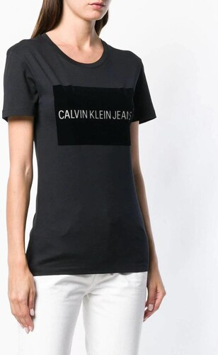 8db6785c3 Calvin Klein dámske čierne tričko Institutional - Glami.sk