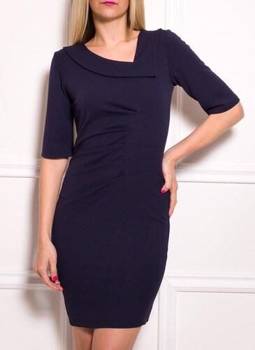 915c875af8da -36% Glamorous by Glam Dámske puzdrové šaty s rukávom a riasením - modrá