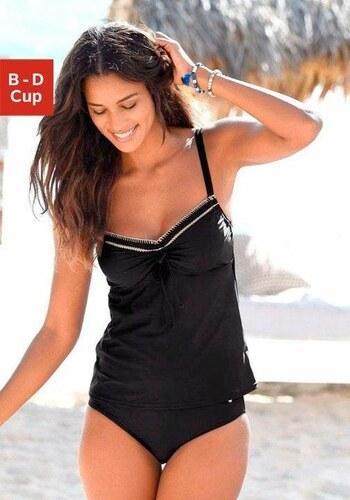 5588cda91 S.oliver beachwear s.Oliver RED LABEL Beachwear Tankiny s kosticami a  háčkovanými krajmi
