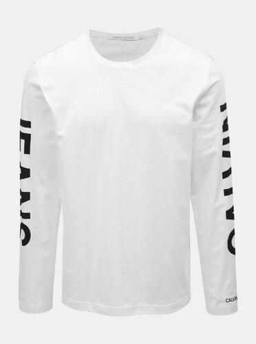 595bbb6cb Bílé pánské tričko potiskem Calvin Klein Jeans - Glami.cz