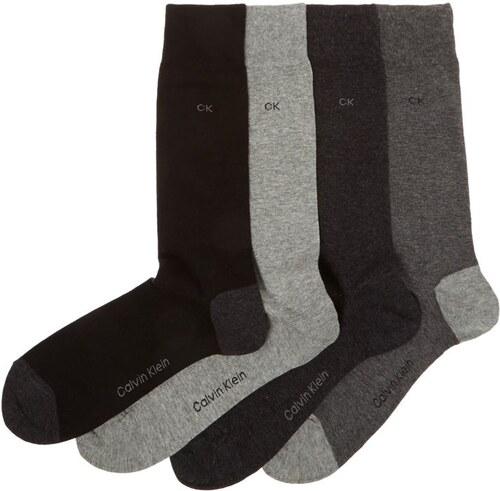 c0c96edb1 Pánské ponožky Calvin Klein Plain Heel 4 v balení Černá mix - Glami.cz