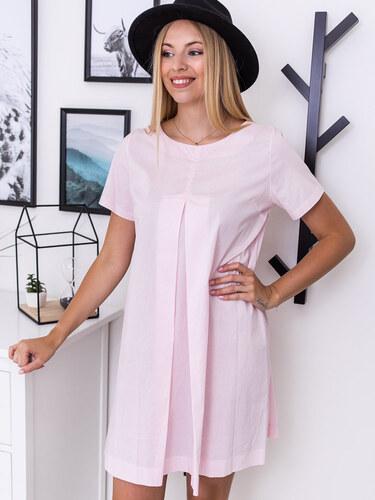 48ae80a94 www.glashgirl.sk Ružové šaty s krátkym rukávom Sofia - Glami.sk