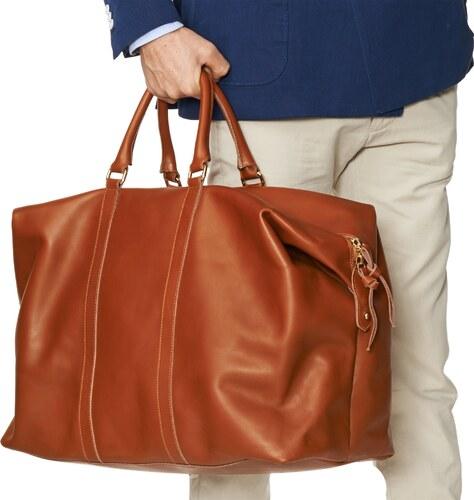 4933908b20f Gant Leather Weekend Bag - Glami.cz