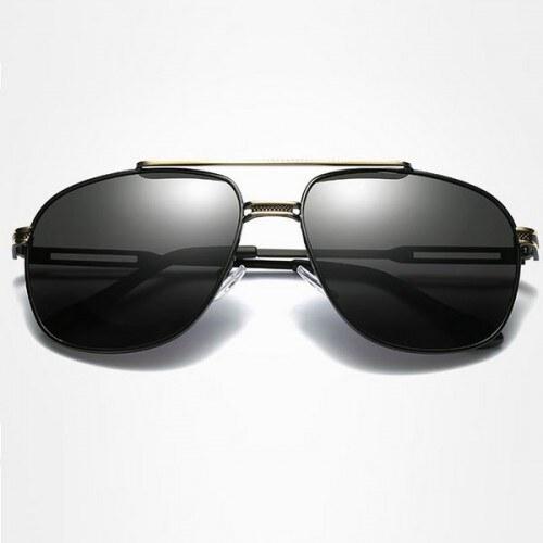 ab5ae4ce3 Polarizační sluneční brýle pilotky Andree zlaté černé-Beangel - Glami.cz
