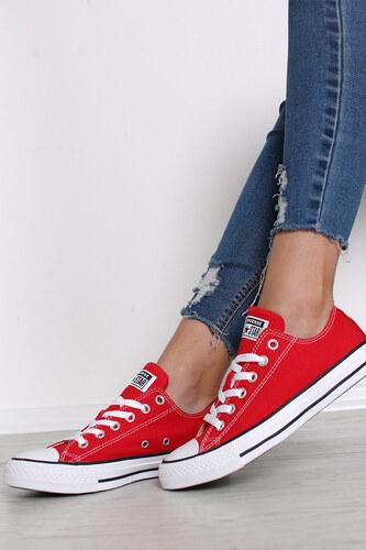 3060f8e6a6 Converse Piros női alacsony tornacipő Chuck Taylor All Star - Glami.hu