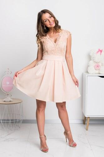 a54fc23d7 www.miadresses.sk Marhuľové spoločenské mini šaty s áčkovou sukňou ...