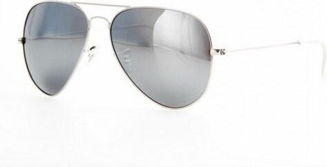 a05dfda2d Polarizační sluneční brýle AVIATOR pilotky - stříbrný rám zrcadlová  skla-Beangel