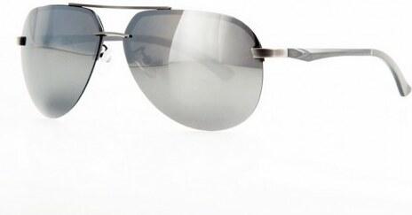 e6e2a9b93 Polarizačné slnečné okuliare AVIATOR Pilotky - strieborný rám zrkadlovky -Beangel
