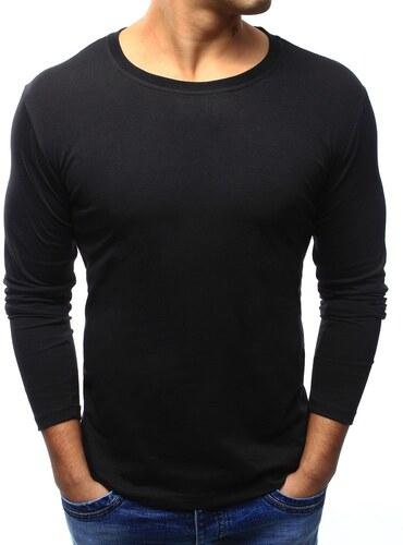 192fa5a7c1adc BestLook Pánske jednofarebné tričko s dlhým rukávom (lx0417) - čierne