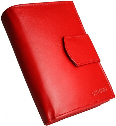 b8d8dfd79d Bellugio Kožená dámska peňaženka AD-10-217 - červená - Glami.sk