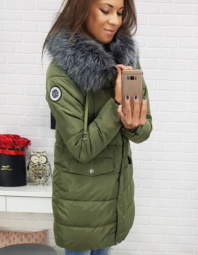 b5f294b1ca962 Brand Dámska zimná bunda LAPLAYA s kapucňou (ty0356) - zelená, veľ ...