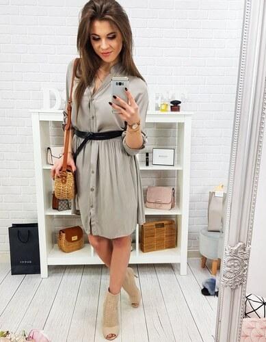 a89b60f77 Brand Štýlové šaty pre ženy (ey0805) - cappuccino - Glami.sk