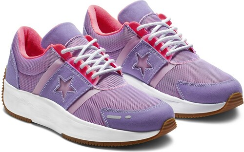 50c35ef2a Converse fialové tenisky na platforme Run Star - Glami.sk