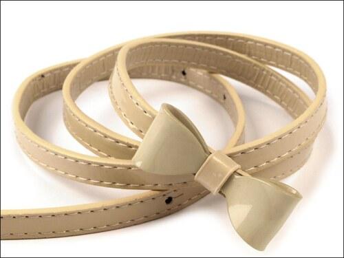 Elegantní béžový pásek s mašličkou