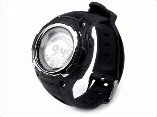 Silikonové černé hodinky
