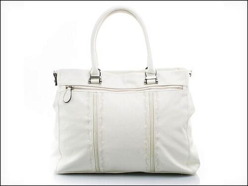 Stylová bílá kabelka s prošíváním - zn. Mahel