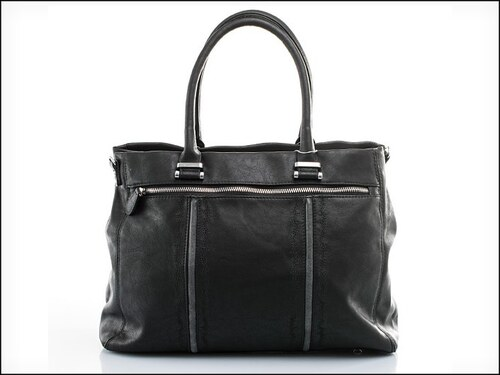 Stylová černá kabelka s prošíváním - zn. Mahel