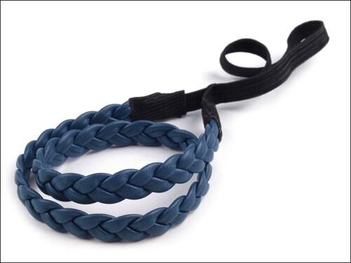 Spletená modrá čelenka do vlasů - Glami.cz 0dc4f9bbf2