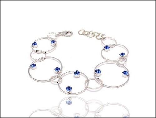 Módní modrý náramek z kruhů
