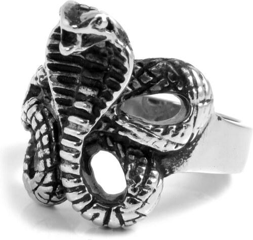 5acc2e262 SteelCZ Oceľový prsteň Kobra - Glami.sk