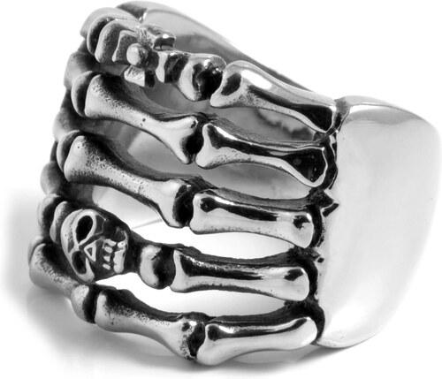 07562485e SteelCZ Oceľový prsteň s detailom kostry - Glami.sk