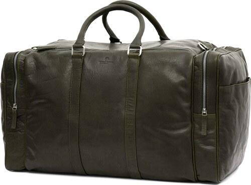 f1eb9153708c Lucleon Montreal nagyméretű olajbarna bőr hétvégi táska - Glami.hu