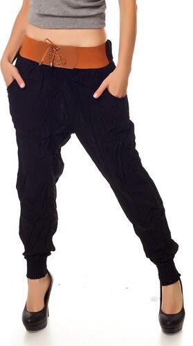 Dámské harémové kalhoty LUK - černé - Glami.cz 2b34254368