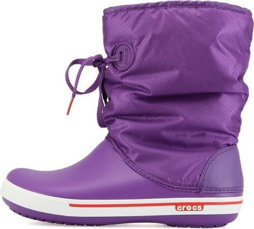 Fialové dámské sněhule Crocs Crocband II.5 Lace Boot - Glami.cz 249341c024
