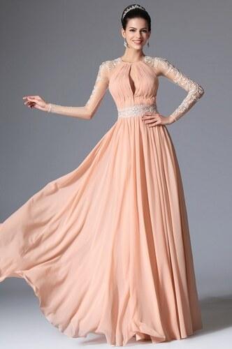 f788ea2188 MiaBella Společenské šaty s krajkovými rukávy Barva  jako na obrázku ...