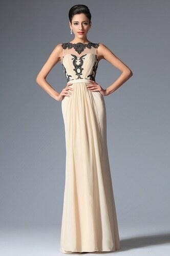 ee880f6f99 MiaBella Společenské šaty bez rukávů zdobené krajkou jako na obrázku ...