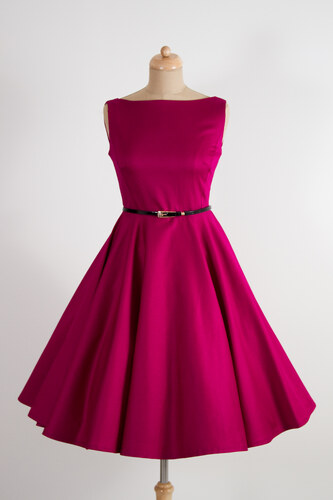 MiaBella SUSAN vínové retro šaty Barva  Barva jako na obrázku ... d0b061ebc6
