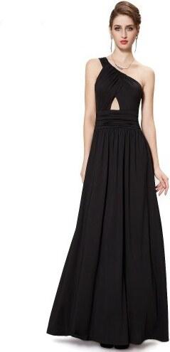 Ever Pretty Černé strečové asymetrické šaty na jedno rameno - Glami.cz d11cc2fddc