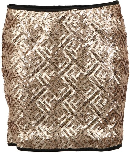 Zlatá flitrovaná sukně Vero Moda Maise - Glami.cz 0be3ca05a6